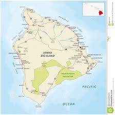 Hawaii Lava Flow Map Big Island Hawaii Road Map Stock Illustration Image 68672019