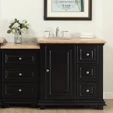 Bathroom Vanity With Drawers On Left Side Silkroad Exclusive 56