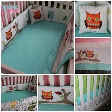 owl crib bedding for boys modern owl tree theme unisex boy