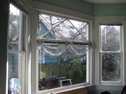 simple design appealing how to dress a bay window with roman