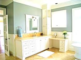 bathroom remodeling ideas with soft yellow wall paint attractive