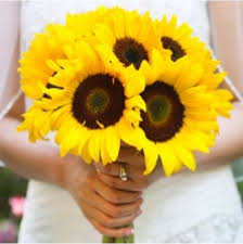 Sunflower Wedding Bouquet Simple Sunflower Bridal Bouquet