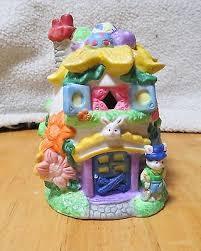 hoppy hollow easter cottage egg easter bunny box girl pink rabbit keepsake 9 95