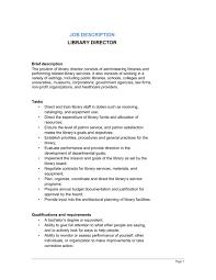 library director job description template u0026 sample form
