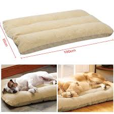 Cushion Pets 100x65cm Extra Large Warm Soft Fleece Puppy Pets Dog Cat Bed