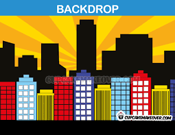 backdrop city comic backdrop yellow background instant