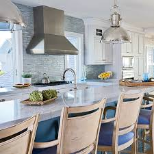 Blue Kitchen Countertops by 5 Star Beach House Kitchens Coastal Living