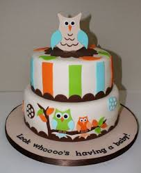 owl baby shower cake two tier owl theme baby shower cake jpg 1 comment