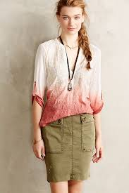 ombre blouse tiny stitched ombre blouse anthropologie