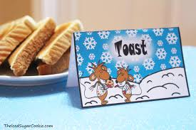 diy birthday blog north pole breakfast with stincel and ringlet
