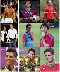 Funny Memes Soccer - some great messi v ronaldo pics doing the rounds football