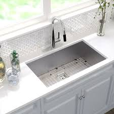 kraus pax 31 5 x 18 5 undermount kitchen sink reviews wayfair