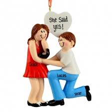 engagement boy kneeling to ornament personalized