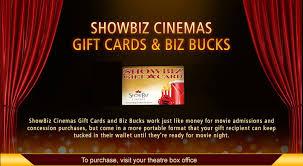 theater gift cards showbiz cinemas gift cards