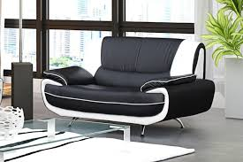 canap design noir et blanc canapé 2 places design noir et blanc simili cuir muza amazon fr
