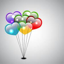heart shaped balloons heart shaped balloons vector