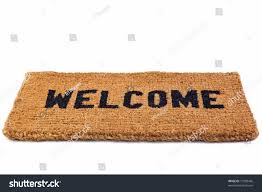 photo welcome door mat isolated on stock photo 77989456 shutterstock