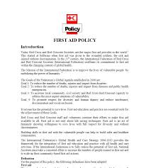 first aid policy international federation of red cross and red