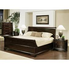 Espresso Bedroom Furniture by Abbyson Kingston 4 Piece Espresso Sleigh Queen Size Bedroom Set By