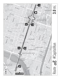 Austin Downtown Map by Capitol Warmup Run