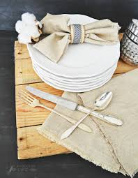 easy no sew linen napkins my fabuless