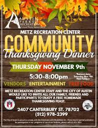 community thanksgiving dinner austintexas gov the official