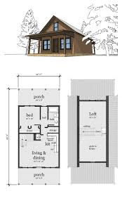 Small Cottages Floor Plans Narrow Lot Home Plan 67535 Total Living Area 860 Sq Ft 2