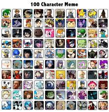 Meme Characters - 100 characters meme by chalkluke4 on deviantart