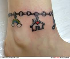 ankle bracelet tattoo design for women real photo pictures