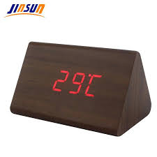 Modern Desk Clock Modern Wood Alarm Clock Modern Desk Clock Black Wood Cube Alarm