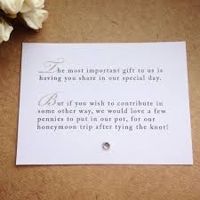 gift card bridal shower wording best 25 wedding gift poem ideas on honeymoon fund