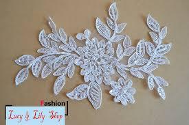 aliexpress com buy 18 5 12cm pearl lace trim appliques