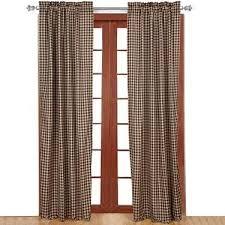 Navy Buffalo Check Curtains 84