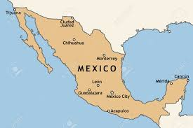 Map Mexico by Mexico Map With Major Mexican Cities Mexico City Guadalajara