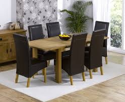 oak and leather dining room chairs 8169 for table dark red design