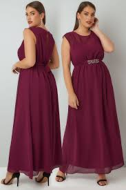 maxi dresses burgundy chiffon maxi dress with embellished tie waist split