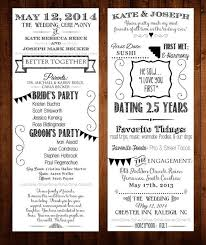 Playbill Wedding Programs 7 Best Images Of Our Love Story Printable Our Love Story Wedding