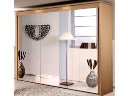 new york 3 door 3 mirror sliding door wardrobe in beech warehouse