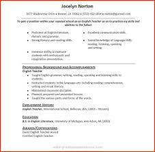 Resume Reimage Repair Resume Format For English Teachers Resume For Your Job Application