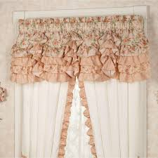 Ruffled Curtains Pink Melody Floral Ruffled Grande Bedspread Bedding