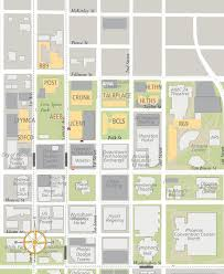 Arizona State University Campus Map by Downtown Phoenix Dining Locations Map Sun Devil Dining