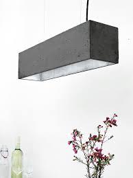 Esszimmerlampen Silber B4 Dark Pendelleuchte Rechteckig Beton Silber U2013 Gantlights