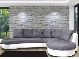 canapé d angle arrondi canapé d angle droit bimatière noir et gris stephane