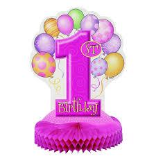 1st birthday girl girl balloons 1st birthday 14 honeycomb centrepiece decoration
