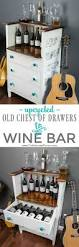25 best wine bars ideas on pinterest wine display the wine upcycled old chest of drawers to wine bar part 2 of 2
