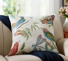fauna print botanical pillow cover pottery barn