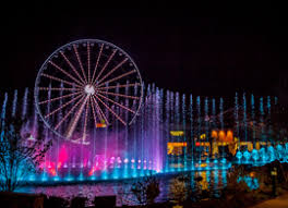 christmas light show pigeon forge tn show fountain the island at pigeon forge