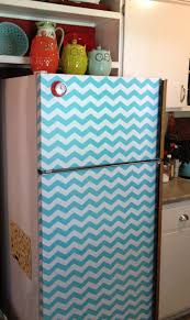 diy refrigerator make over using self adhesive shelf liner