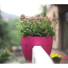 balcony rail mounted flower pot sharpex india