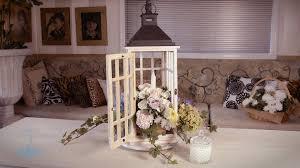shabby chic lantern floristry arrangement youtube